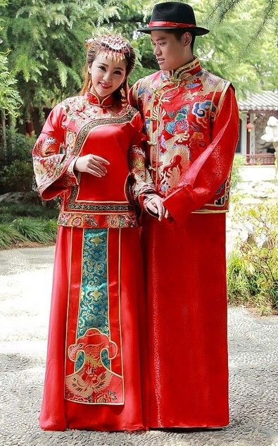 Chinese wedding on pinterest chinese wedding dresses for Traditional chinese wedding dress hong kong