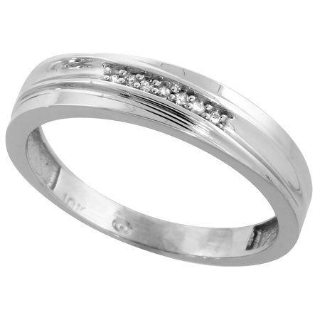 Gabriella Gold 10k White Gold Men S Diamond Wedding Band Ring 3 16 Inch Wide Size 8 Walmart Com In 2021 Mens Diamond Wedding Mens Diamond Wedding Bands Mens Rings Wedding Diamond