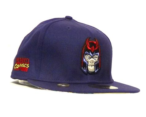 pretty nice 67297 c744e Marvel Magneto New Era 59fifty Fitted Hat Puple - Magnet Included!