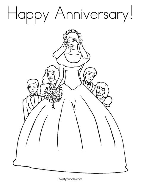 Anniversary Coloring Pages Delectable Happy Anniversary Coloring