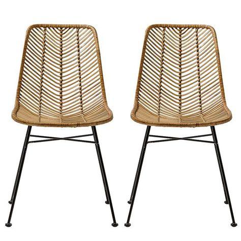 Chaises En Rotin Pour Un Style Tropical Mais Chic Avec Images