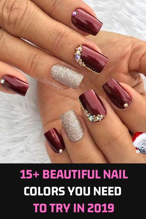 The 2018-2019 Fall / Winter Nail Trends are packed with bold patterns and creative features that will enhance any look. All the fashion shows of the fall of 2018 in New York, London, Milan and Paris have been marked by a carefully selected set of beautiful nail designs ranging from avant-garde to subtle and chic..  #haircolor #makeup #style #Nail