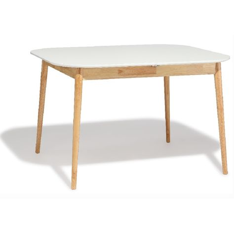 Table Extensible 6 A 8 Couverts Marty Bois Et Blanche Gifi 534212x Table Extensible Cuisine Salle A Manger Table Blanche