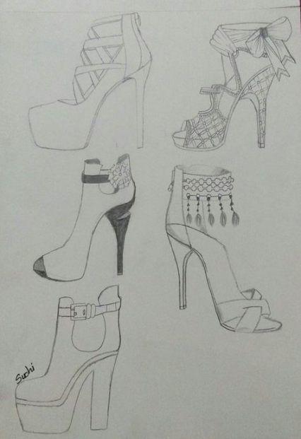 fashion shoes illustration sketches