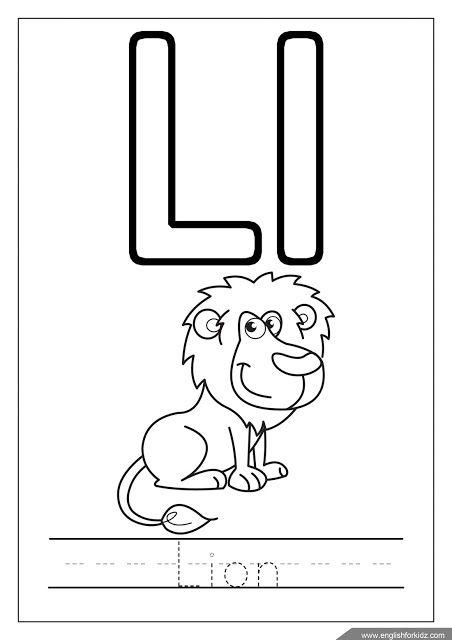 Alphabet Coloring Page Letter L Coloring L Is For Lion Alphabet Coloring Pages Alphabet Worksheets Letter L