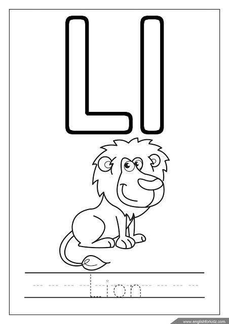 Alphabet Coloring Page Letter L Coloring L Is For Lion With