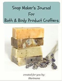 Soap maker's journal for bath and body product crafters. Keep all your notes in one place.Makes a terrific gift for your homesteading friends - includes super easy goats milk soap recipe and some guides to creating your own soap designs