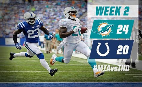 Over 300 yards passing by Ryan Tannehill, over 100 yards rushing & a defense that held the high-powered Colts offense out of the end zone in the 2nd half all added up to a huge 24-20 win over the Colts