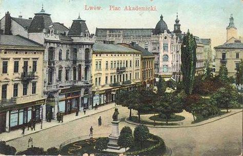 Вулиця Академічна включно із будинком № 6 на поштовій листівці ... 74512f9fcf37b