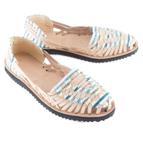 2f13752bb0ef2 Women s Striped Pastel Woven Leather Huarache Sandals
