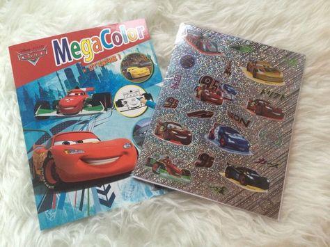 Disney Cars Malbuch Malen Sticker Buch Stift Geschenk Geburtstag Kinder Neu   eBay