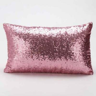 Rectangle Glitter Sequins Pillow Cover 19 7 X 11 Inch Pillowcase Throw Pillow Fashion Home Garden Home In 2020 Sequin Throw Pillows Glitter Pillows Sequin Pillow