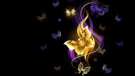 Butterfly Digital Art Dark Purple Violet Darkness Art Glittering Butterflies Shine Graphics Speci With Images Butterfly Wallpaper Wallpaper Butterfly Decorations