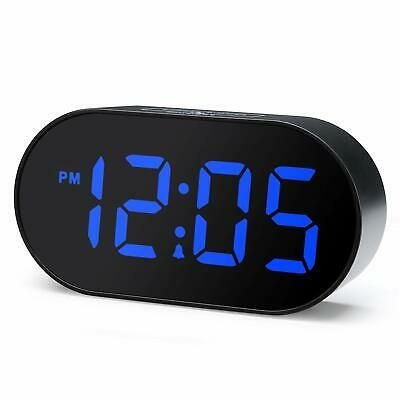 "New 1.8/"" Curved Blue Led Atomic Dual Alarm Clock Auto Time Set Usb Charging Port"