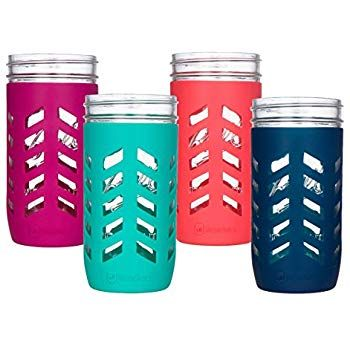 Jarjackets Silicone Mason Jar Protector Sleeve Fits 24oz 1 5