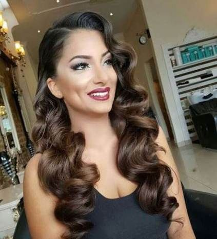 Hairstyles Prom Curly Wavy Hair 20 Ideas Prom Hairstyles For Long Hair Vintage Hairstyles Long Hair Styles