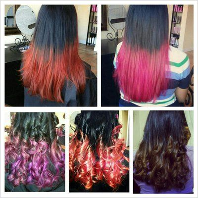 Different Hair Colors Different Hair Color Ombre And Hair Dip Dye Yelp Hair Color Different Hair Colors Dipped Hair