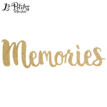 Gold Memories Glitter Sticker Stickers Scrapbook Paper