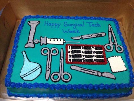 Surgical Tech Cake Ideas | Via Jennifer Michalka