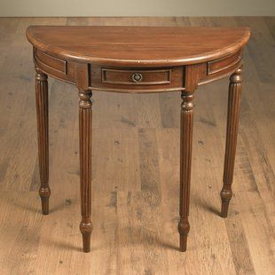 Half Moon Console Table With Drawer