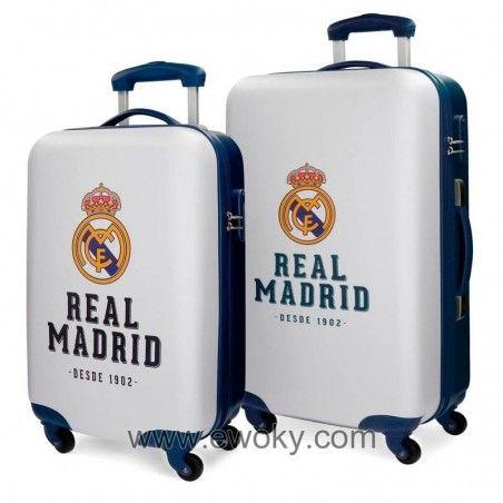 Https Www Ewoky Com En 78308 Set 2 Maletas Real Madrid Abs 4r 55 67cm Real Madrid Tienda Friki Munecos Figuras Funko Pop E Real Madrid Maletas Tiendas Disney