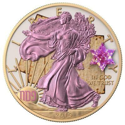 Usa 2019 1 Silver Eagle Jewish Holidays Pesach 1 Oz Silver Coin 500 Pcs Only Ebay In 2020 Silver Coins Silver Eagles Silver Bullion Coins