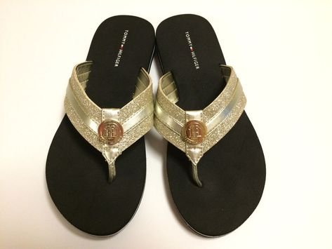 617f987875ac New Tommy Hilfiger Size 7 M Gold Multi Texture Women Flip Flops Thongs   fashion  clothing  shoes  accessories  womensshoes  sandals (ebay link)