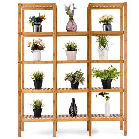 Bamboo-Wooden-Plant-Stand-Indoor-Outdoor-Garden-Planter-Flower-Pot-Stand-Shelf