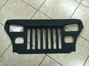 A 1987 95 Jeep Wrangler Yj Overlay Grille Furious Angry Eyes Fiberglass Black Jeep Wrangler Yj Jeep Wrangler Jeep Yj