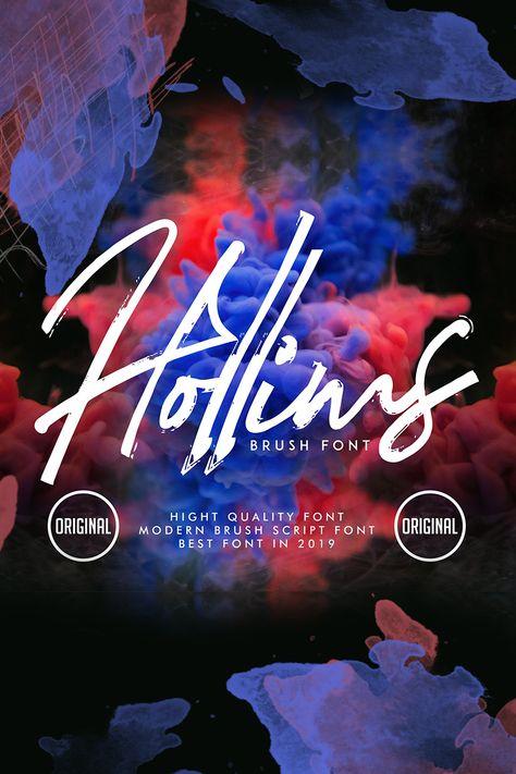 Hollims | Brush Script Font Font