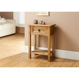 Corona 1 Drawer Console Table Mexican Solid Pine In 2020 Small
