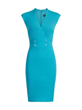NY&C: Safari Sleeveless Sweater - Avenue Aqua Dress Outfit, Dress Outfits, Casual Dresses, Fashion Dresses, Trendy Dresses, Classy Dress, Classy Outfits, Chic Outfits, Office Dresses For Women
