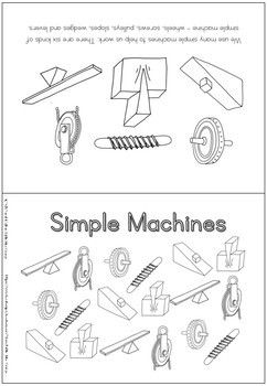6 Simple Machines Coloring Booklet Simple Machines 6 Simple