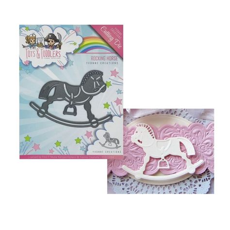 ROCKING HORSE BABY die cuts scrapbook cards