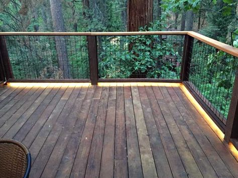 5050 Waterproof Strip Lights Are Used On This Outdoor Deck