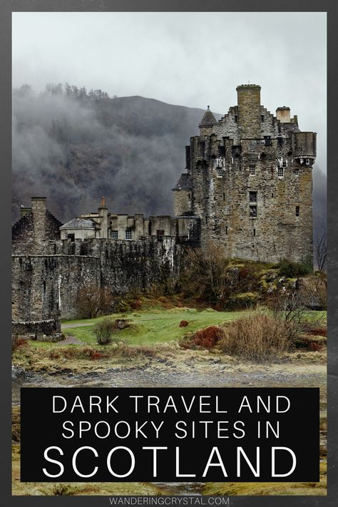 Dark Travel and Spooky Sites in Scotland <br> Top 10 Spooky Places to Visit in Scotland: Ghosts, ghouls and murderous secrets held in the terrifying Edinburgh Vaults & Outlander's Culloden Battlefield. Scotland Road Trip, Scotland Vacation, Places In Scotland, Scotland Travel, Scotland Top, Glasgow Scotland, Stirling Castle Scotland, Inverness Scotland, Scotland Castles