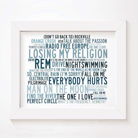 Nirvana Poster Print Lyrics Gift Signed Art Anthology