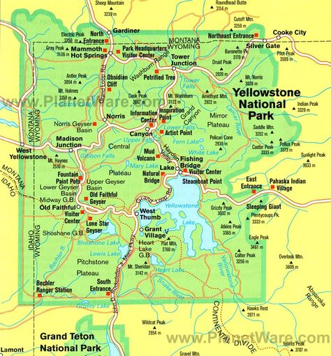 Yellowstone National Park Is A National Park Located
