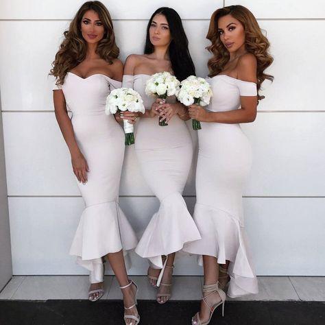 0d66557a02 Charming Mermaid Sweetheart Short Sleeve Sexy V-back Cheap Simple Bridesmaid  Dress