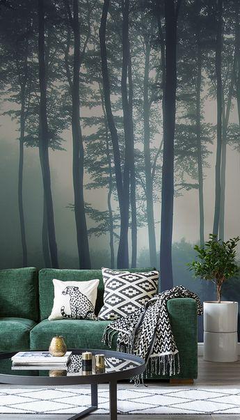Sea Of Trees Forest Wallpaper Murals Wallpaper In 2021 Wall Murals Bedroom Tree Wallpaper Bedroom Wall Mural Ideas Living Room