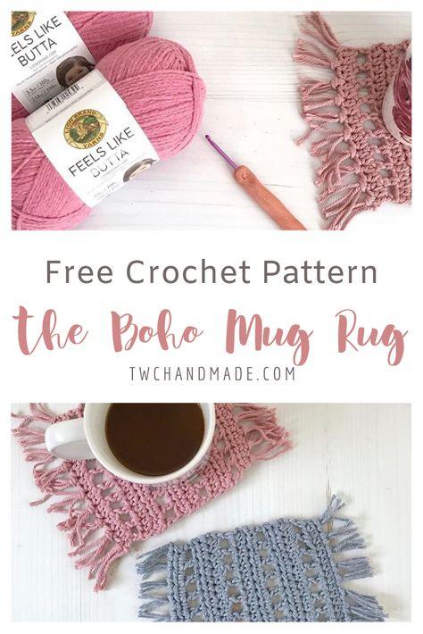 Get the FREE crochet pattern for this Boho Mug Rug. # boho crochet patterns The Boho Mug Rug Boho Crochet Patterns, Crochet Stitches, Thread Crochet, Crochet Coaster Pattern Free, Crochet Accessories Free Pattern, Doilies Crochet, Crochet Rugs, Popular Crochet, Mug Rug Patterns