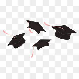 Education Teaching Graduation Season Bachelor Cap Graduate Cap Cartoon Hand Drawing Flip A Hat Graduation Cap Drawing Graduation Cap Clipart Graduation Drawing