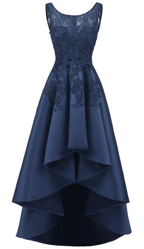 Women S Elegant Sleeveless Lace High Low Prom Dress M7478 Formal