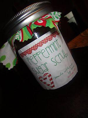 .peppermint sugar scrub