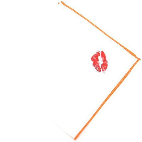 Orange Lipstick Smooch Pocket Square from King Kravate - The Neckwear Of Kings