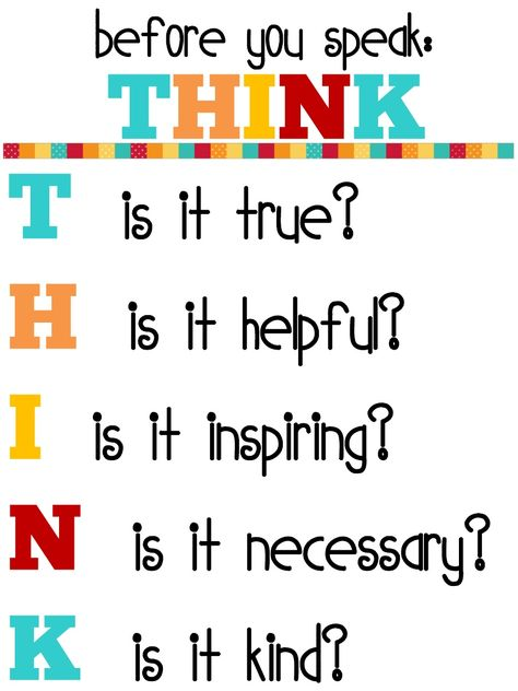 Great THINK poster for the class door.