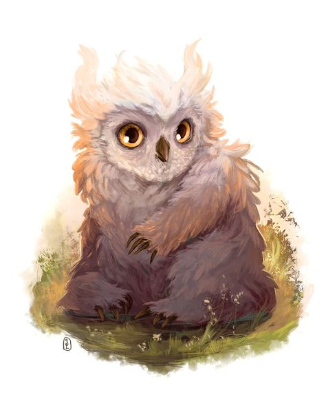 Came across an owlbear cub at DnD. Needed to paint the little guy!