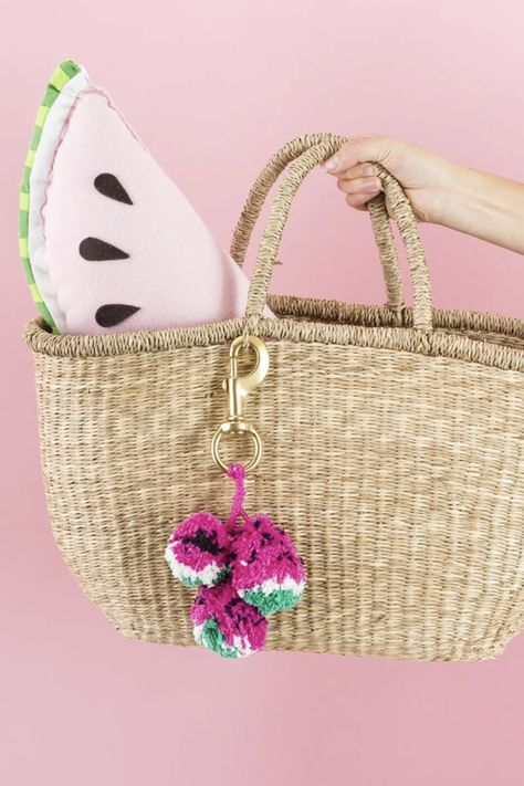 Before you hit the beach or head out glamping, treat yo'self to a chill day of whipping up a wine-totin' backpack, watermelon pom-poms, and so much more! Keep clicking for 26 DIY projects to add to your *must-make* list this summer.