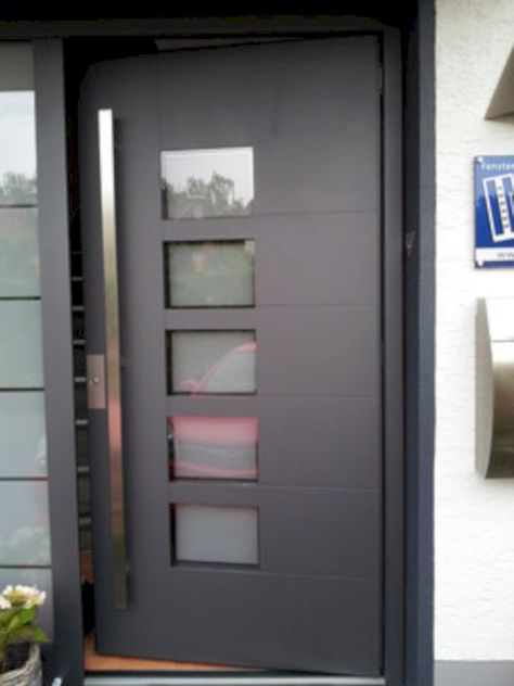 Viena - modern exterior door complete with door frame and handles - etancheite porte d entree