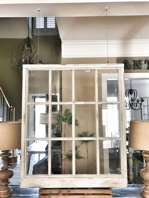 Farmhouse Hanging Window Tutorial With Images Small Living Rooms Farmhouse Room Home